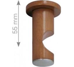 Soporte cilindro techo mixto madera