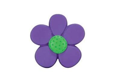 Flor violeta verde