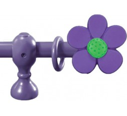terminal barra cortina flor violeta verde