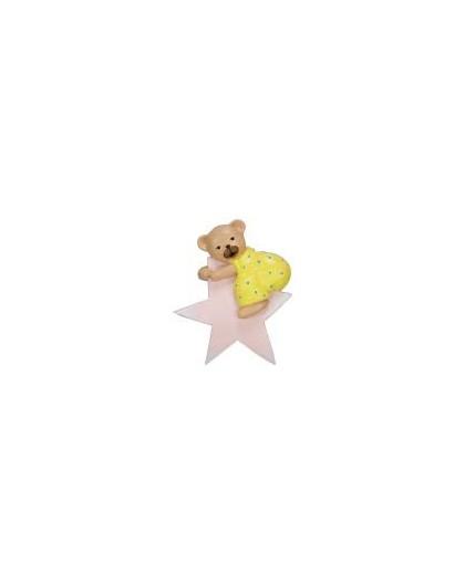 Pink star bear