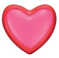 terminal barra cortina corazon rosa