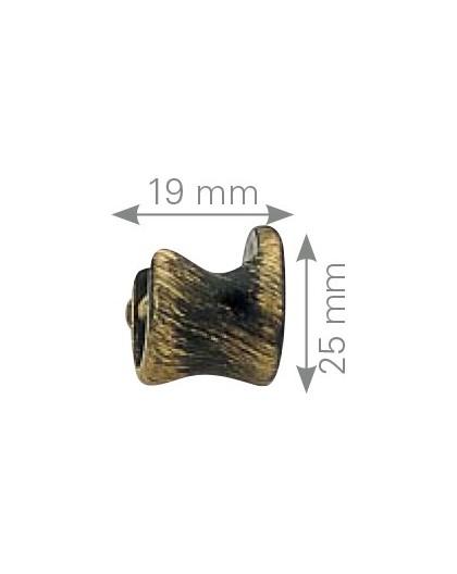Soporte forja lateral base redonda