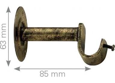 Soporte forja frente base redonda