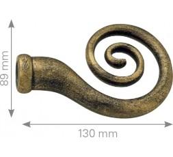 Terminal espiral forja