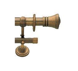 Barra de cortina doble bronce