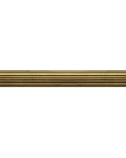 Patinated grooved brass bar