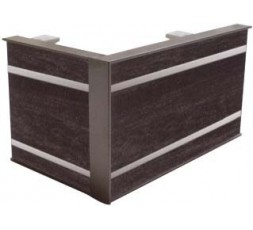 Galería madera con inserción metálica