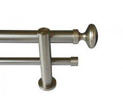 Conjunto óvalo doble barra acero inox.