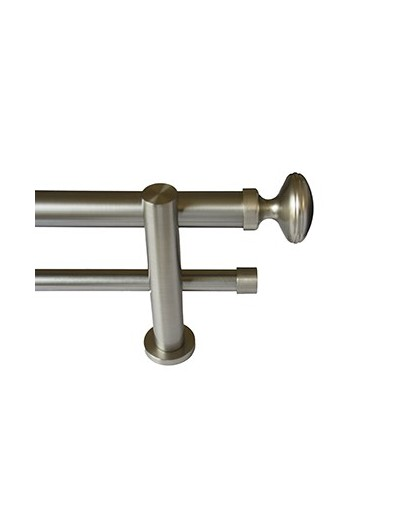 Oval double stainless steel bar set