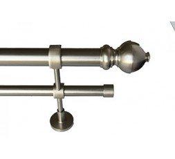 Conjunto Lima doble soporte estandar acero inox.