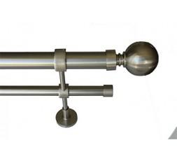 Conjunto Bola doble barra acero inox.