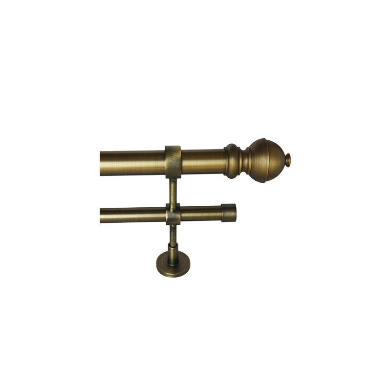 Riel de cortina doble en acabado bronce - Barra doble cortina ...