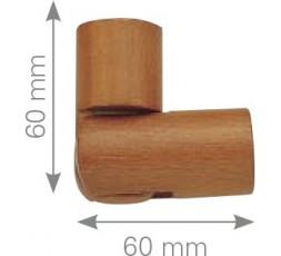 Codo articulado madera