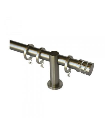 Barra de Cortina mod. Basic cristal 1 acero inox