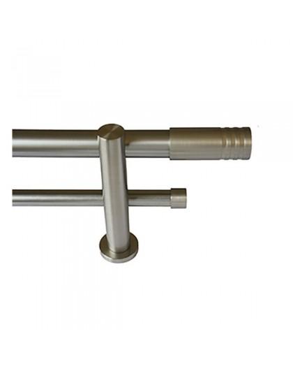 Conjunto Teruel doble barra acero inox.