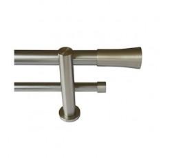 Conjunto Soria doble soporte estandar acero inox.