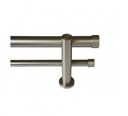 Double stainless steel bar stopper set