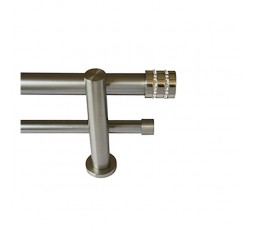 Conjunto Basic  cristal 1 doble barra acero inox.