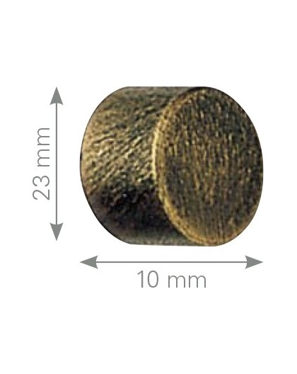 Terminal tapon forja varios acabados para barra 19 y 30 mm.