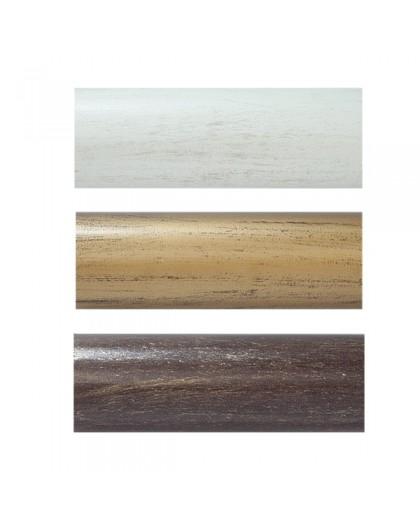 Barra de cortina de madera de 51 mm - Barras de cortinas de madera ...