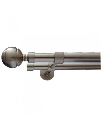 Ball set two stripes double stainless steel bar
