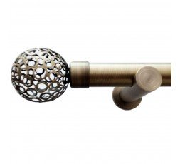 Curtain rod set Serena bronze
