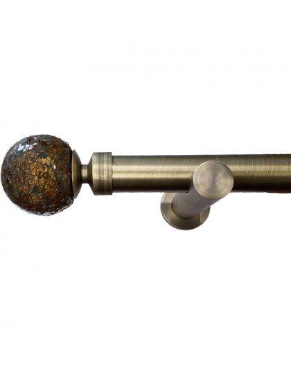 Curtain rod set Valencia bronze