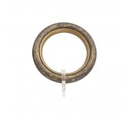 Antique brass round ring