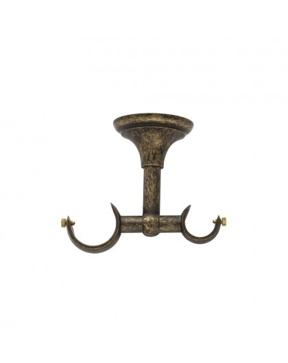 Bracket double ceiling old brass