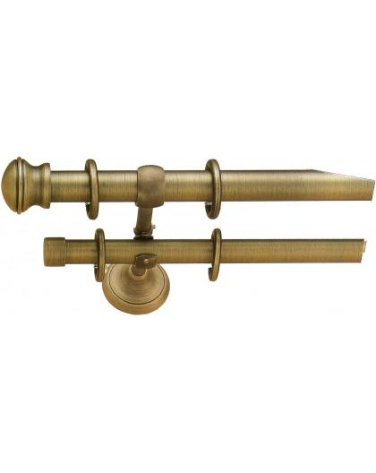 Conjunto Venecia doble barra bronce